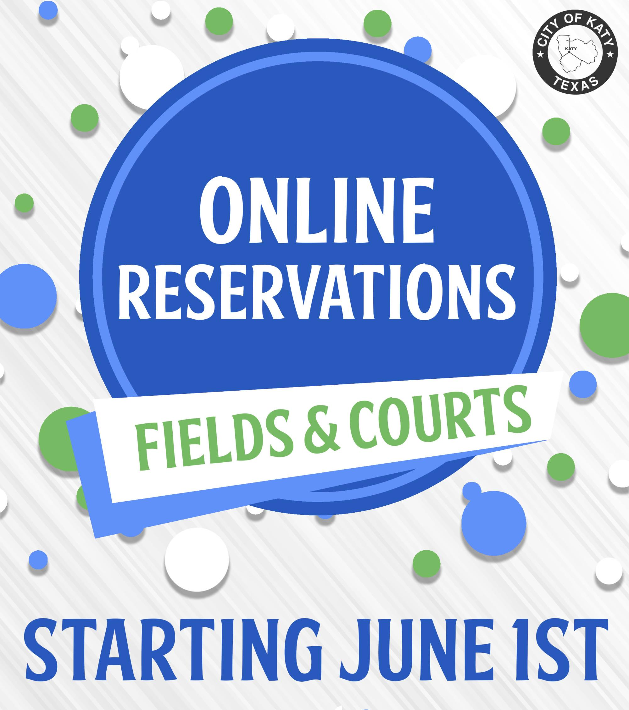 Online Field Reservations - Starting June 1st