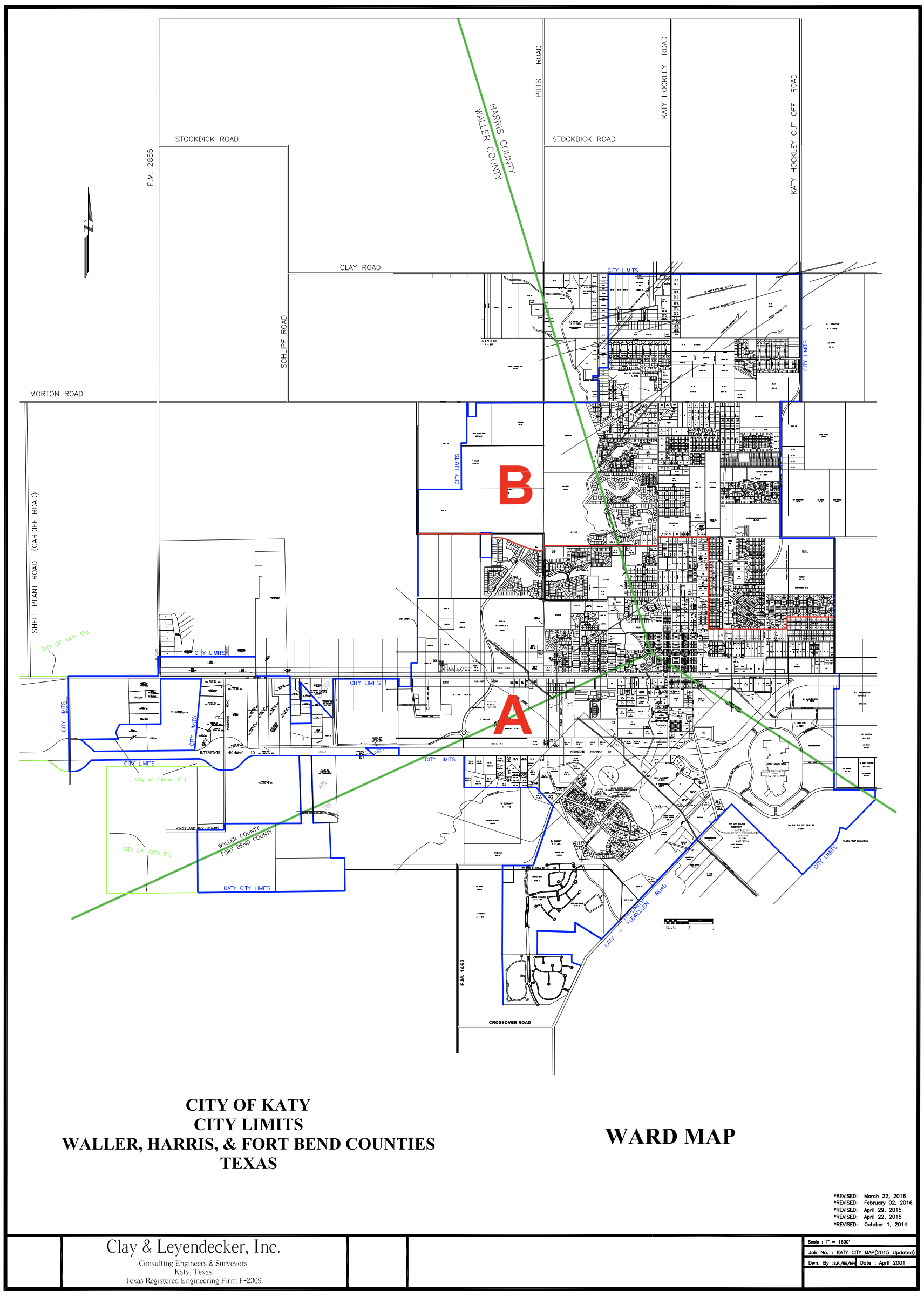 Katy Texas Map Ward Map | City of Katy, TX