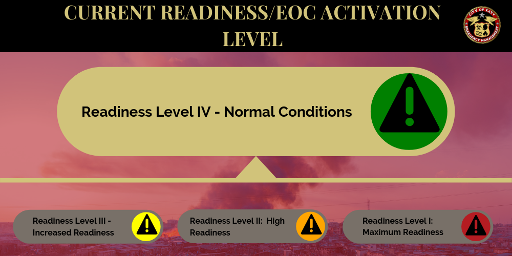CURRENT READINESS LEVEL IV NORMAL CONDITIONS