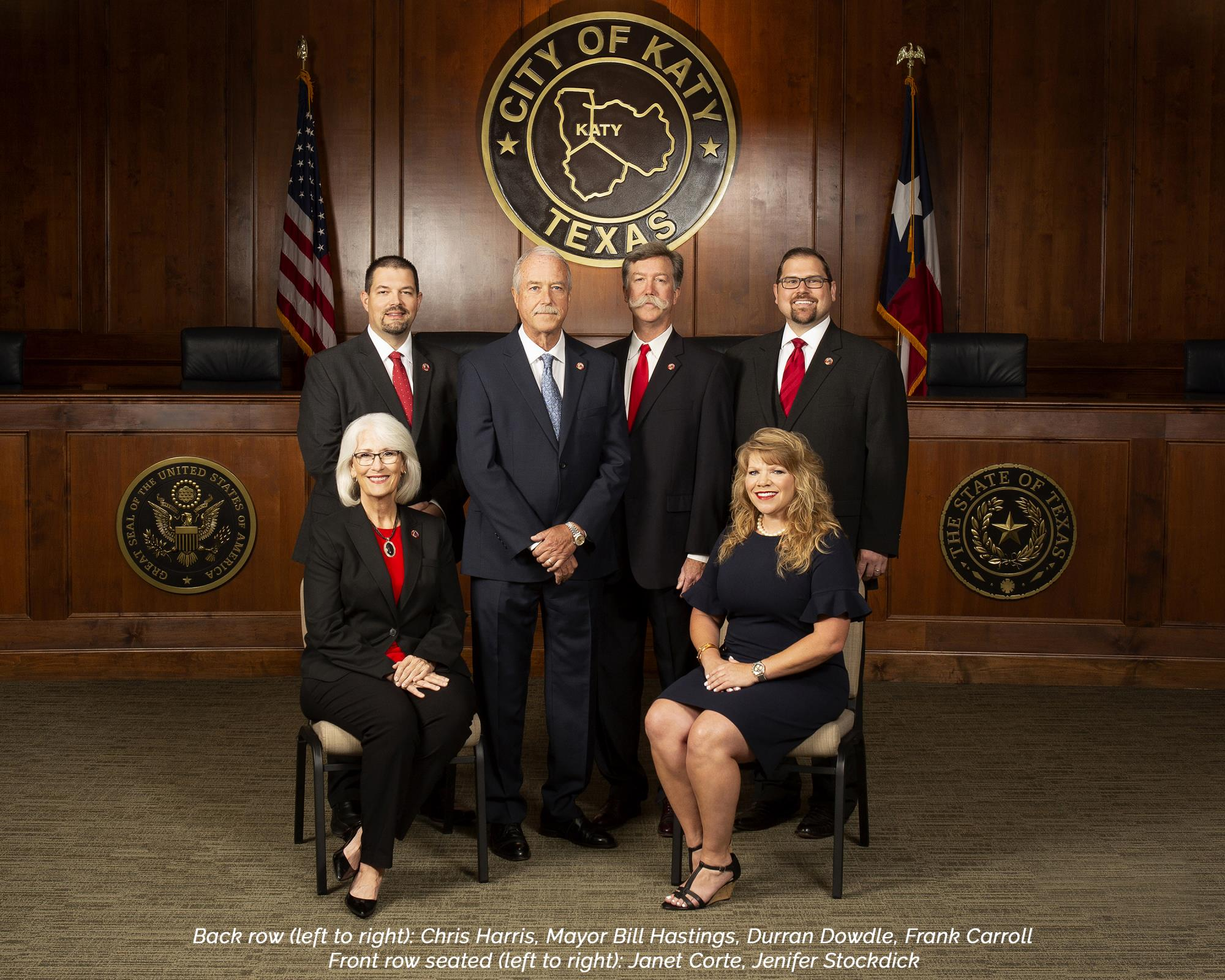 2019 City of Katy Council with caption